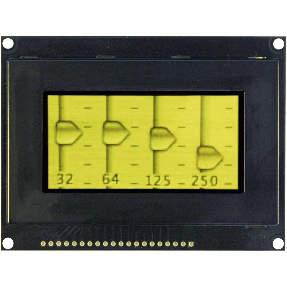 OLED zaslon, rumena, črna (Š x V x G) 93 x 70 x 9.1 mm VGY12864Z-S003