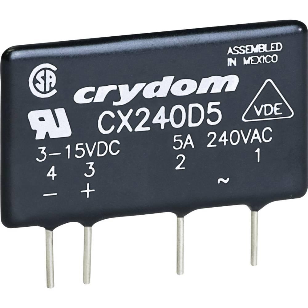Elektronski bremenski rele zatiskano vezje SIP serije CX Crydom Tok bremena 5 A Preklopn CX380D5R