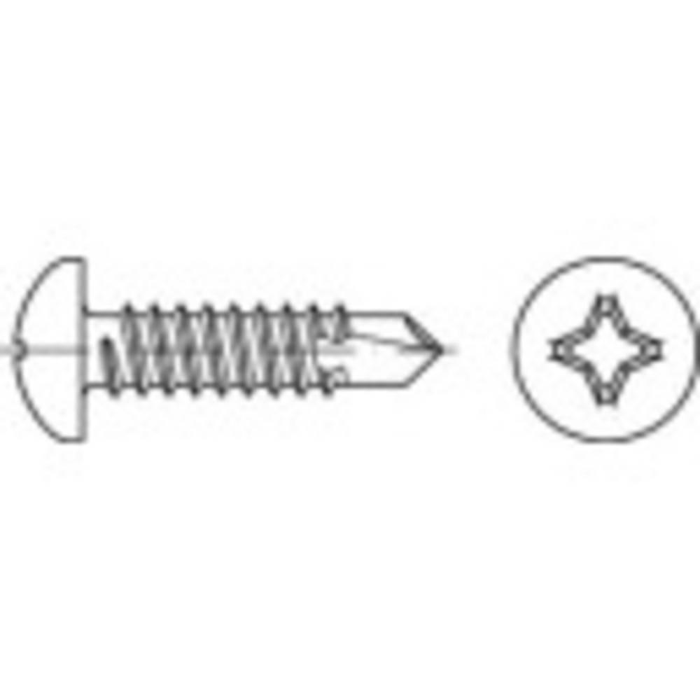 Samourezni vijci 3,9 mm 50 mm Križni Philips ISO 15481 Čelik Galvansko pocinčani 500 ST TOOLCRAFT TO-5441451