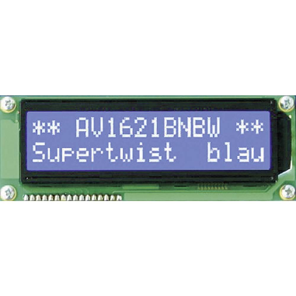 LCD zaslon, bijela, plava (Š x V x D) 122 x 33 x 13.5 mm Anag Vision AV1611BNBW-WJ