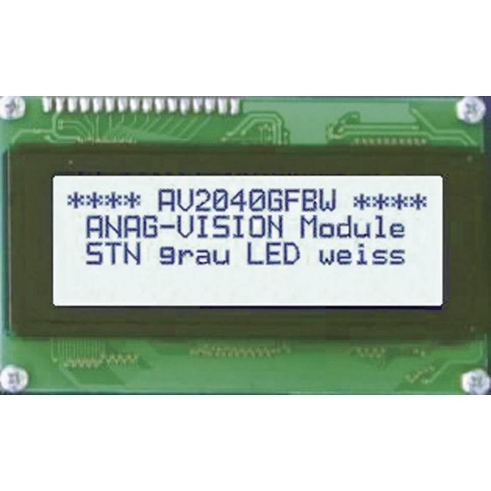 LCD zaslon, siva, bijela (Š x V x D) 87 x 60 x 13.6 mm Anag Vision AV1640GFBW-SJ