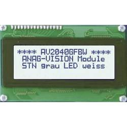 LCD zaslon, siva, bijela (Š x V x D) 122 x 33 x 13.5 mm Anag Vision AV1611GFBW-SJ