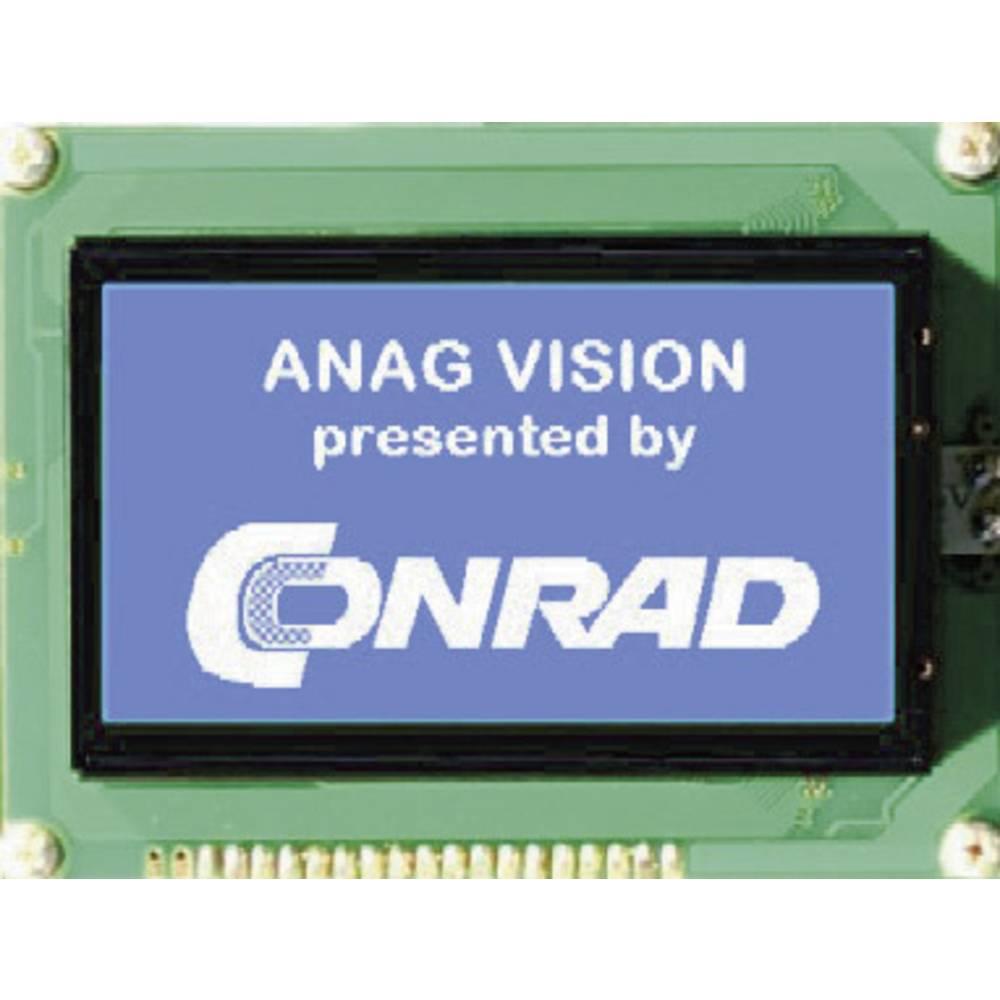 Grafični zaslon, bela, modra (Š x V x G) 144 x 104 x 14.3 mm Anag Vision AV241282BNBW-WTV