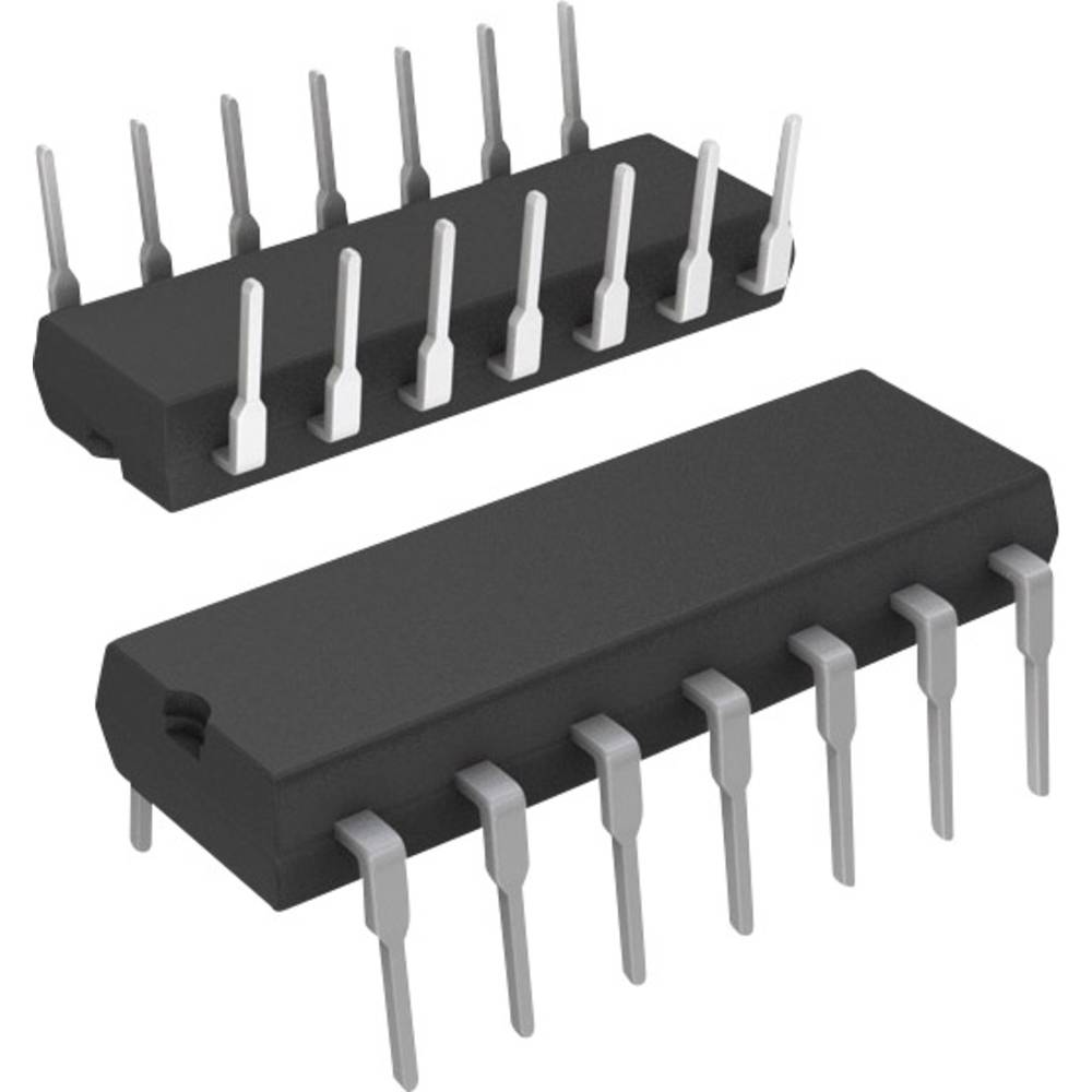 Vgrajeni mikrokontroler PIC16F616-I/P PDIP-14 Microchip Technology 8-bitni 20 MHz število I/O 11