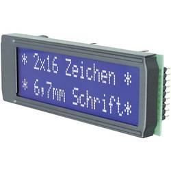 LCD zaslon, bela, modra (Š x V x G) 75 x 26.8 x 10.8 mm EADIP162-DN3LW