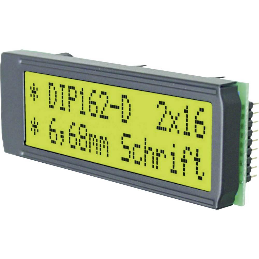LC-Display (value.1317399) EADIP162-DNLED (B x H x T) 68 x 26.8 x 10.8 mm Grøn Gulgrøn