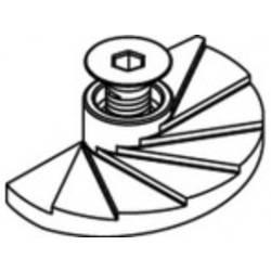 Članak 82019 A 4 (1.4408) FF LINDAPTER-FLOOR-FAST-FF za podne ploče - pribadače, s ISK vijcima za spuštanje Dimenzija: FF 08 (1