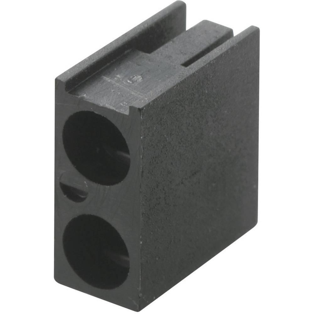 LED afstandsholder Dobbelt Sort Passer til LED 3 mm 1c. Brandname KSS PLD2-3A