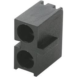 LED afstandsholder Dobbelt Sort Passer til LED 3 mm 1c. Brandname KSS PLD2-3B