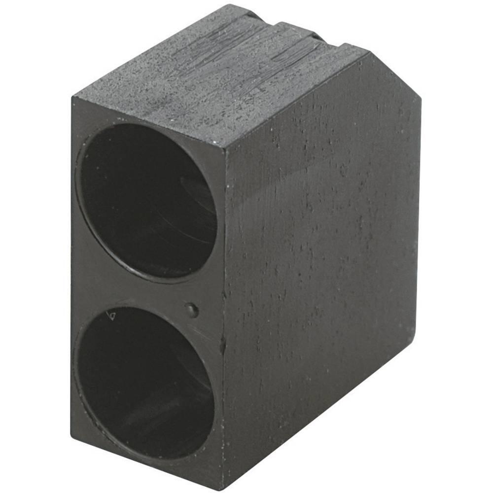 LED afstandsholder Dobbelt Sort Passer til LED 5 mm 1c. Brandname KSS PLD2-5C