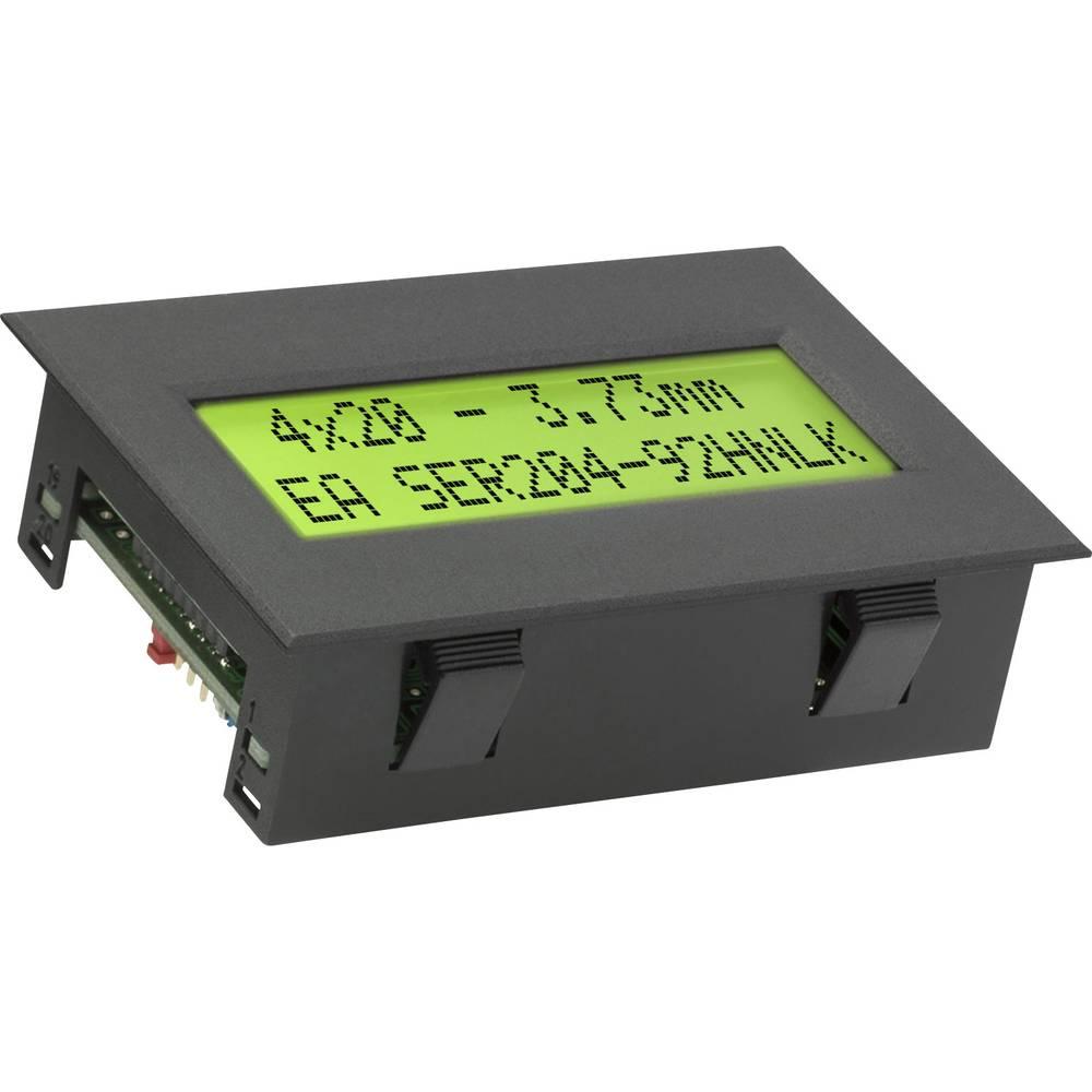 LC-Display (value.1317399) EA SER204-92HNLEK (B x H x T) 77 x 54 x 26 mm Grøn Gulgrøn