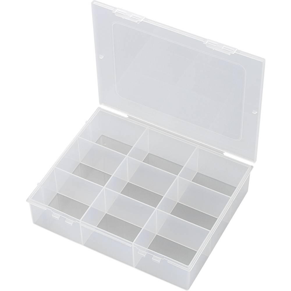 Sortirna škatla (D x Š x V) 190 x 145 x 42 mm E-112-1 št. predalov: 9 fiksna pregraditev