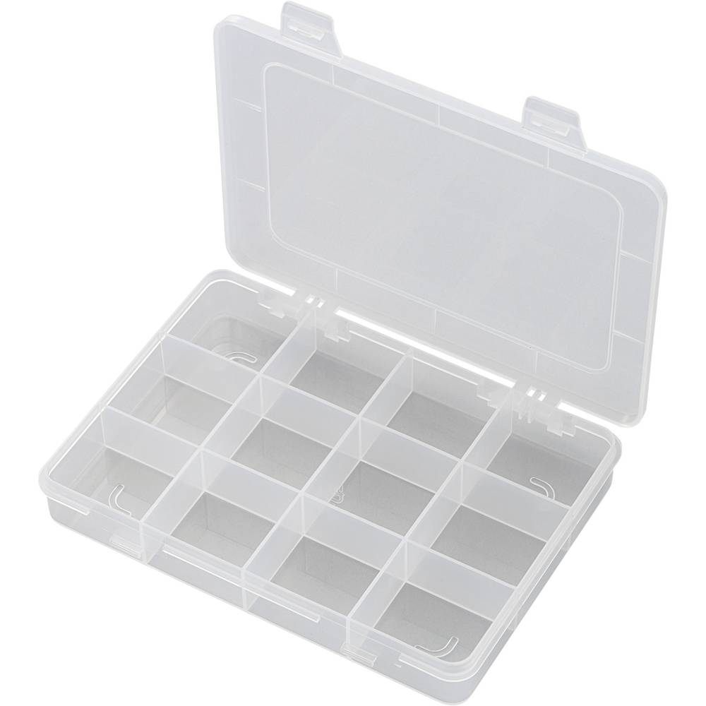 Sortirna škatla (D x Š x V) 184 x 124 x 25 mm E-110 št. predalov: 12 fiksna pregraditev