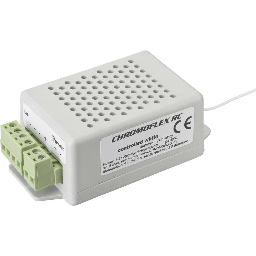 LED-zatemnilnik Barthelme CHROMOFLEX III RC controlled white I350 868.3 MHz 20 m 97 mm 51 mm 35 mm