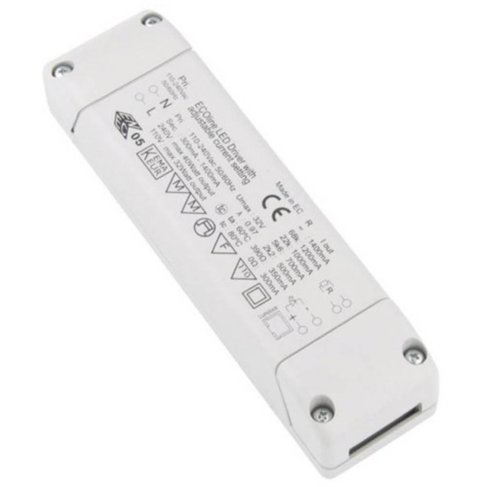 LED pretvornik 40 W 32 V/DC Barthelme ECOline 300-1400mA 1-10V možnost zatemnjevanja, delovna napetost maks.: 240 V/AC