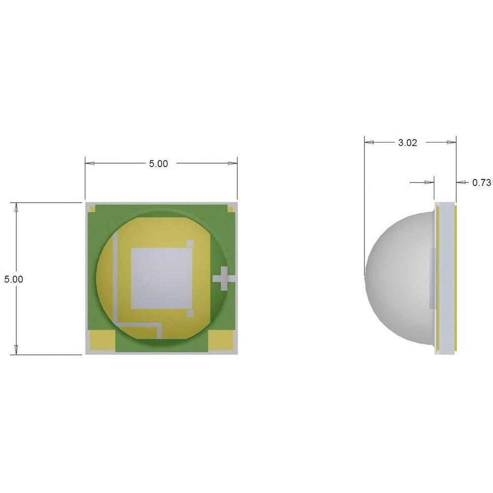HighPower LED hladno bela 280 lm 125 ° 2.9 V 700 mA CREE XMLAWT-00-0000-0000T6051
