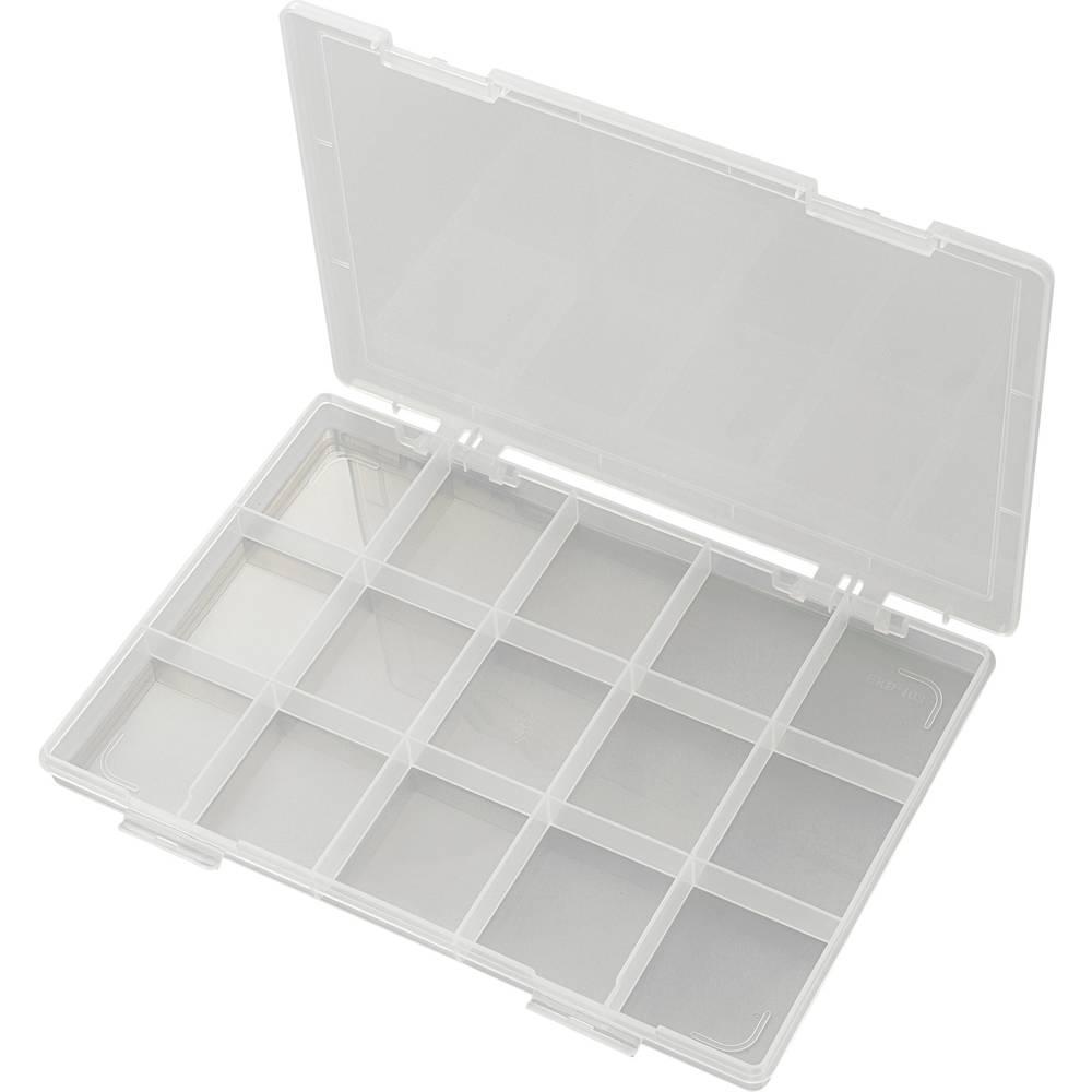 Sortirna škatla (D x Š x V) 285 x 209 x 23 mm EKB-103 št. predalov: 15 fiksna pregraditev