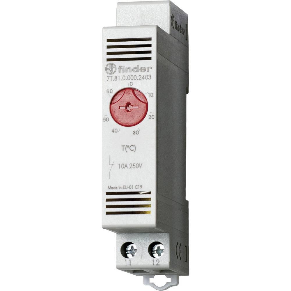 Termostat til opvarmning i kontaktskabe 7T.81.0.000.2403 Finder 250 V/AC 1 Öffner (value.1345269) (L x B x H) 88.8 x 17.5 x 47.8