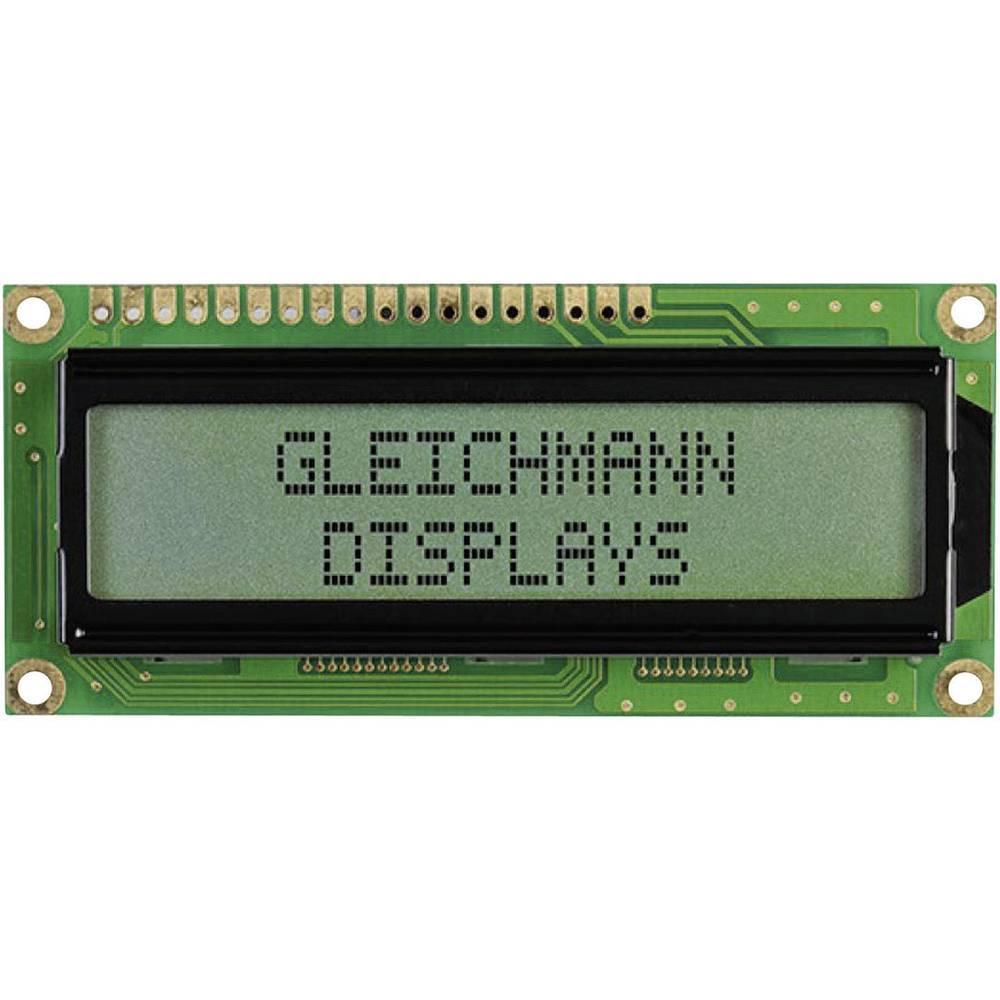LC-display Gleichmann GE-C1602B-CFH-JT/R (B x H x T) 80 x 36 x 13.2 mm 3-farvet