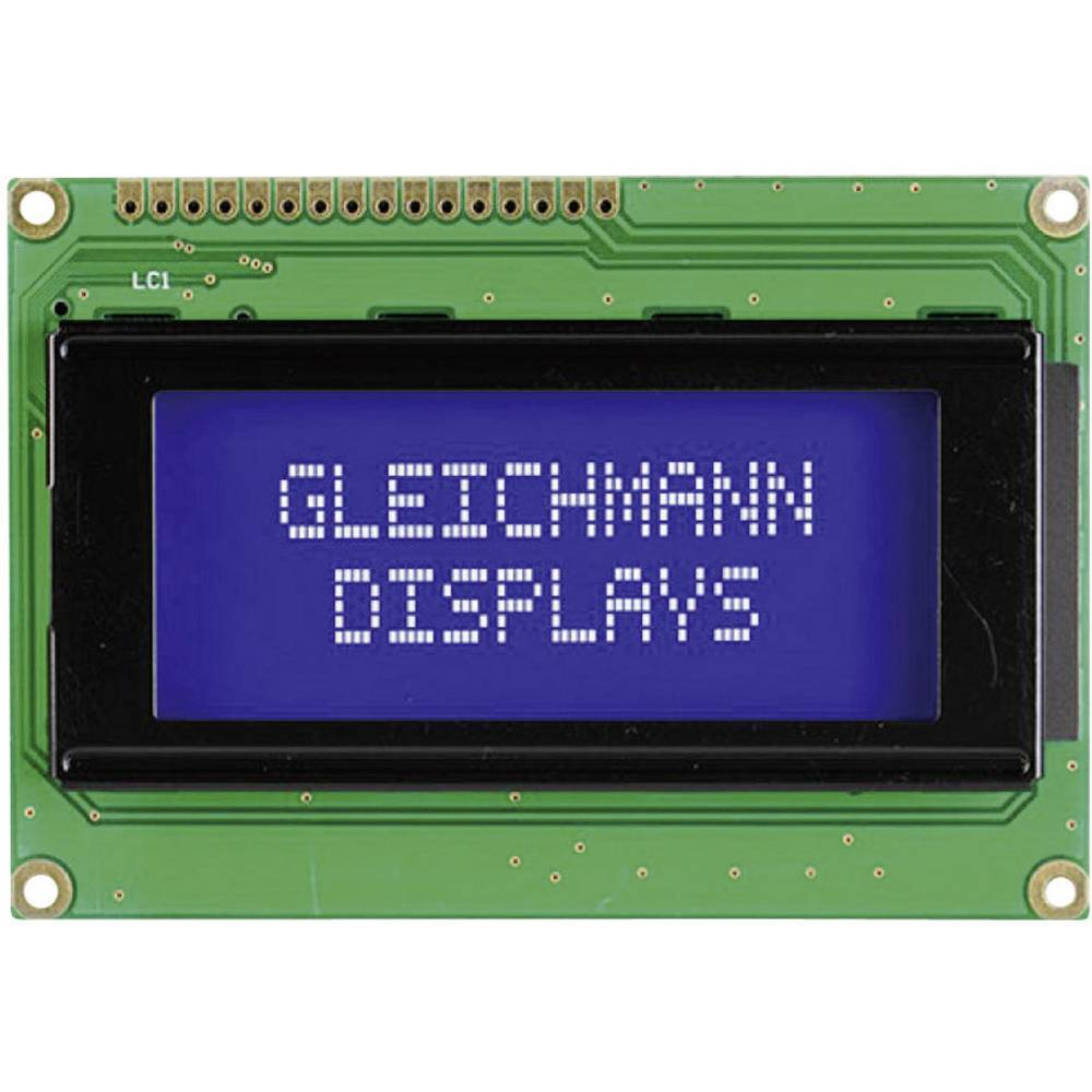 LC-Display (value.1317399) Gleichmann GE-C1604A-YYH-JT/R (B x H x T) 87 x 60 x 13.6 mm Sort Gulgrøn