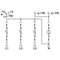 Odvodnik za prenaponsku zaštitu Phoenix Contact VAL-MS 385/80/3+1-FM 2920968