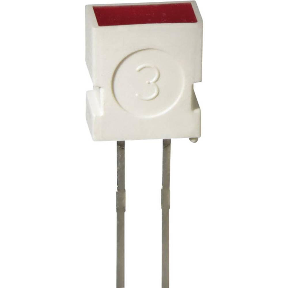 Ožičena LED dioda, rumena, pravokotna 3.65 x 6.15 mm 4 mcd 100 ° 20 mA 2 V L-1043 YD