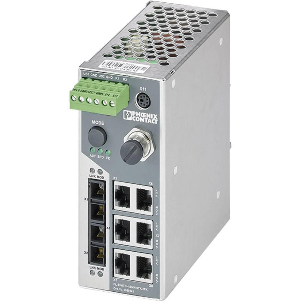 Industrijski eternetski preklopnik Phoenix Contact FL SWITCH SMN 6TX/2FX