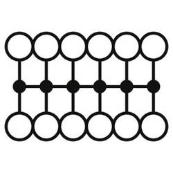 Phoenix Contact PTFIX 12X1,5-NS15A BK 3002968 Razdjelni blok 0.14 mm² 1.50 mm² Crna 20 ST
