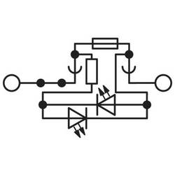Phoenix Contact UT 4-HESILED 24 (5X20) BU 3046537 Sigurnosna provodna stezaljka 0.14 mm² 6 mm² Plava boja 50 ST