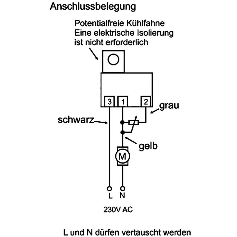 Triac regulator broja okretaja i snage Conrad 230 V/50 Hz, plastično kućište, s priključnim žičnim spletovima