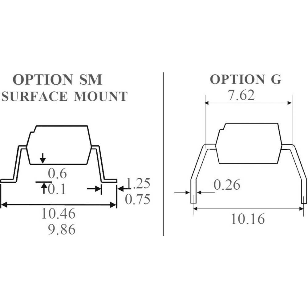 Isocom Components MOC3063XSMT/R-Optospojnik, kućište: DIL 6, SMD, verzija: Zero Crossing Triac