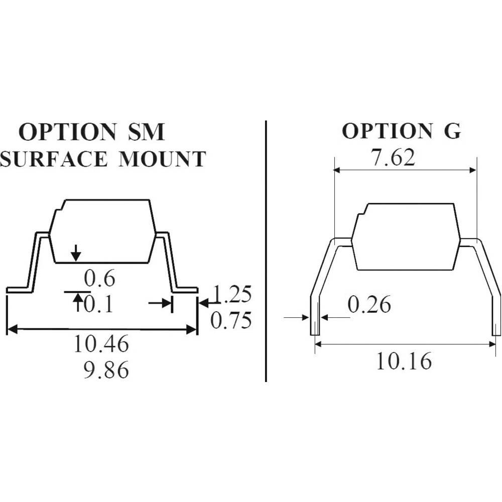 Isocom Components TLP521-Optospojnik, ohišje: DIL 4, izvedba: fototranzistor/Single