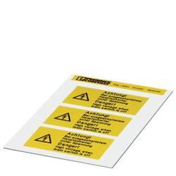 Opozorilna tabla Pozor Samolepilna folija (Š x V) 74 mm x 37 mm DIN 61010-1 1 KOS