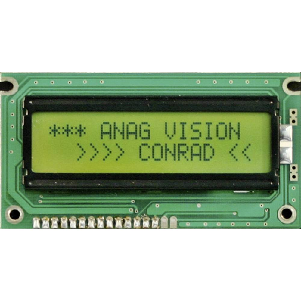 LC-Display (value.1317399) 183350 (B x H x T) 116 x 36 x 10 mm Sort Gulgrøn