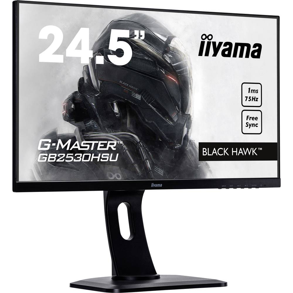 Iiyama G-MASTER GB2530HSU LED monitor 62.2 cm(24.5 palec)EEK A+ (A+++ - D) 1920 x 1080 piksel Full HD 1 ms display port, HDMI, U
