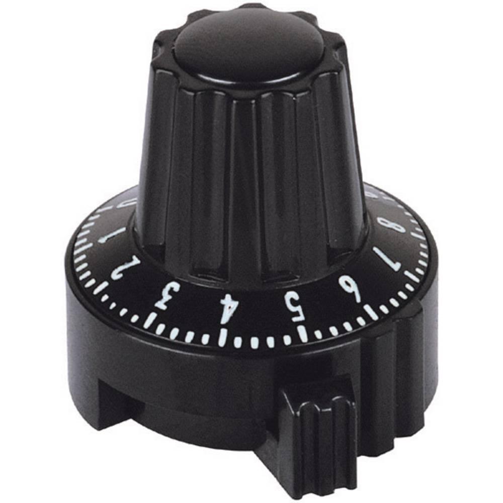 Mentor Naravnalni gumb crni sskalom 4331.6032