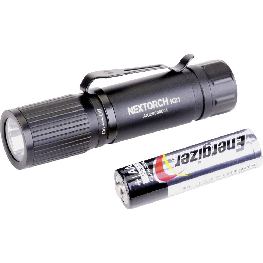 Nextorch K21 LED Mini žepna svetilka S sponko za pas, Nastavljiva velikost točke Baterijsko 160 lm 14 h 35 g