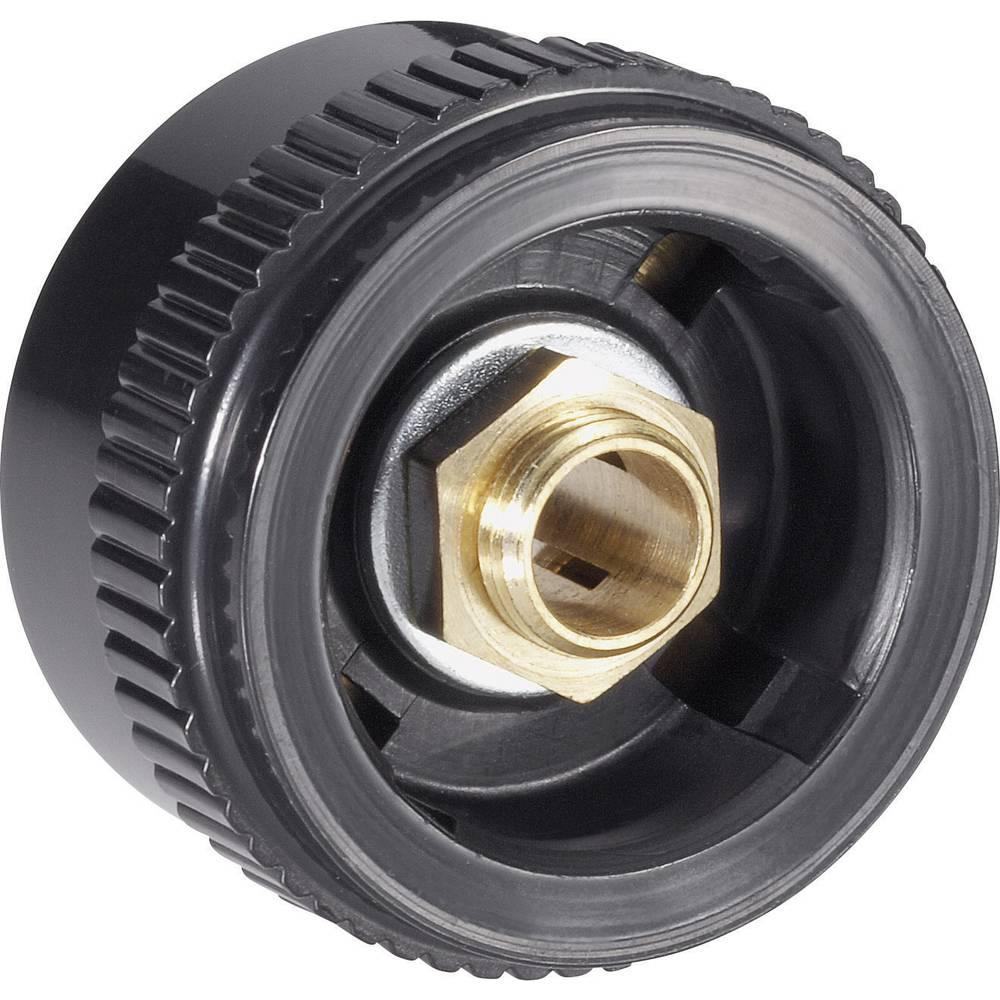 Mentor Gumb serije 20 RAENDELKNOPF crna promjer osi 6mm 4133.603