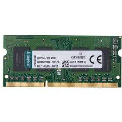 Kingston Notebook pomnilniški modul KVR16S11S6/2 2 GB 1 x 2 GB DDR3-RAM 1600 MHz CL11