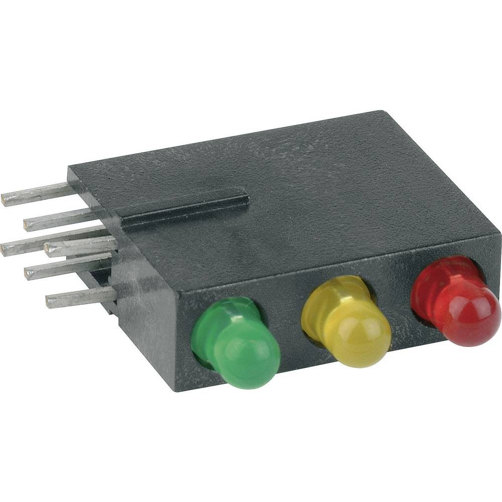 LED modul, 3-delni, rdeča, rumena, zelena (Š x V x G) 5.08 x 15.24 x 12.5 mm Mentor 1881.8720