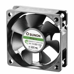 Aksialni ventilator 12 V/DC 39.07 m/h (D x Š x V) 60 x 60 x 20 mm Sunon MB60201V1-000U-A99
