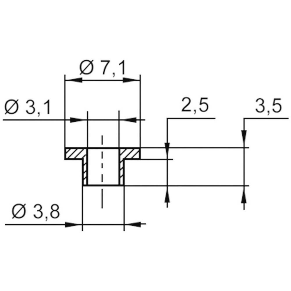Izolirna podložka 1 kos V5357 ASSMANN WSW zunanji premer: 7.1 mm, 3.8 mm notranji premer: 3.1 mm