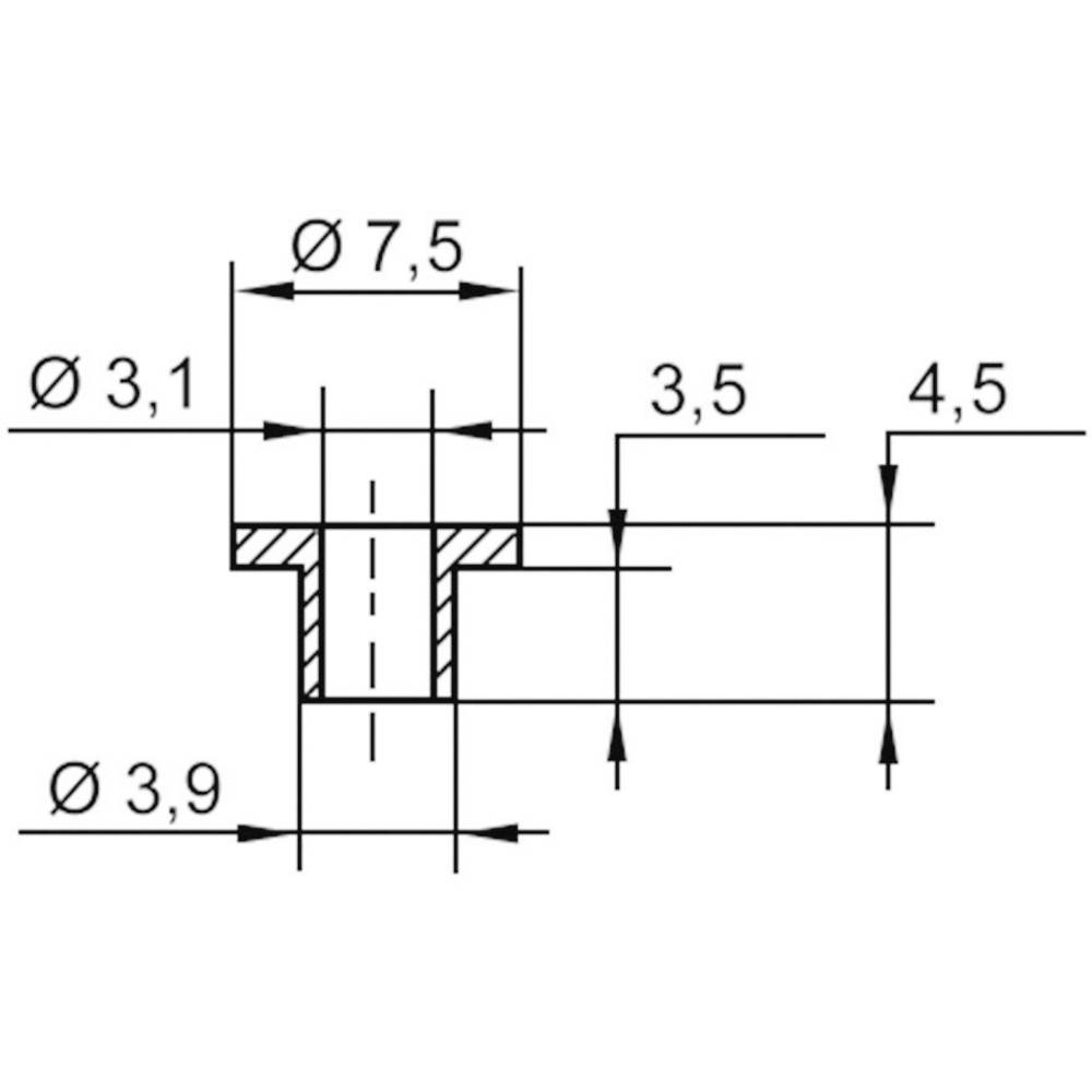 Izolirna podložka-vtičnica 1 kos TC-V5358-203 TRU Components zunanji premer: 7.5 mm 3.9 mm notranji premer: 3.1 mm