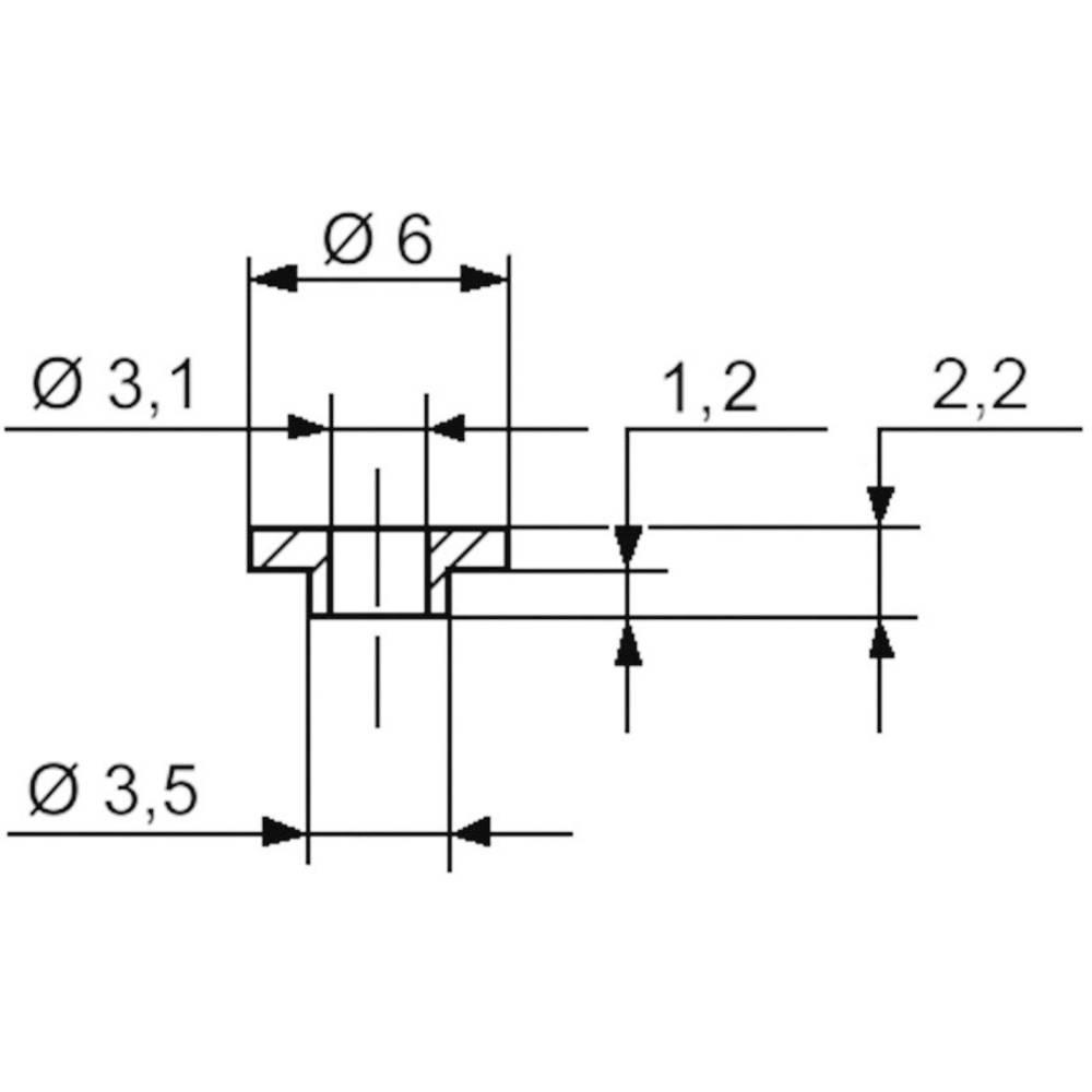 Izolirna podložka-vtičnica 1 kos TC-V5359-203 TRU Components zunanji premer: 6 mm 3.5 mm notranji premer: 3.1 mm