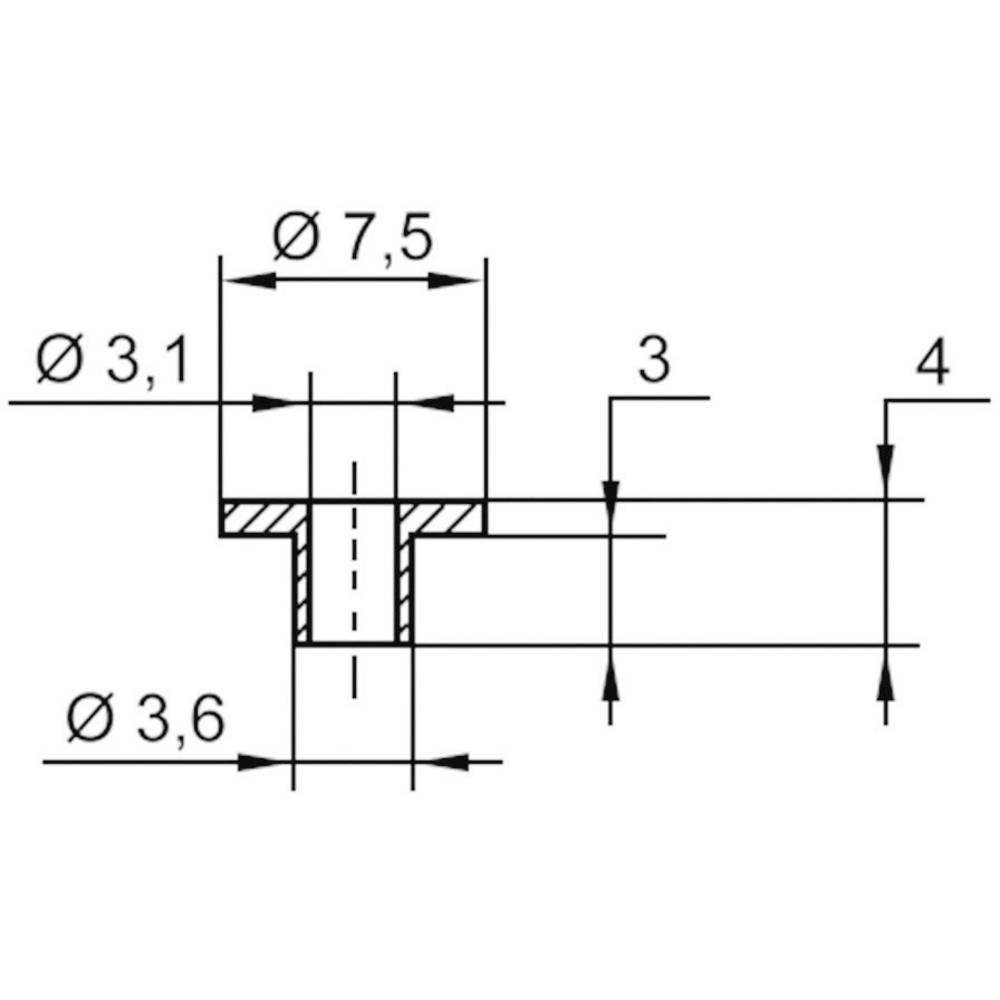 Izolirna podložka-vtičnica 1 kos TC-V5816-203 TRU Components zunanji premer: 7.5 mm 3.6 mm notranji premer: 3.1 mm