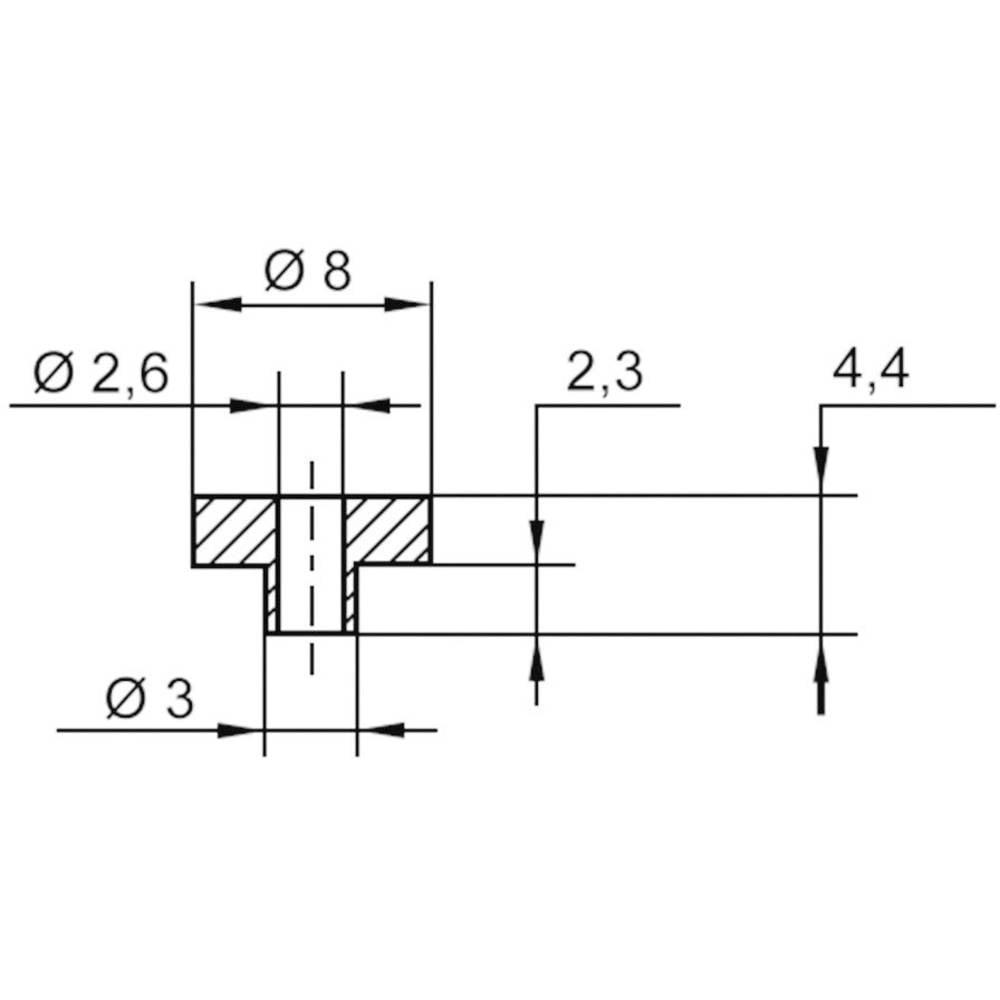 Izolirna podložka-vtičnica 1 kos TC-V5817-203 TRU Components zunanji premer: 8 mm 3 mm notranji premer: 2.6 mm