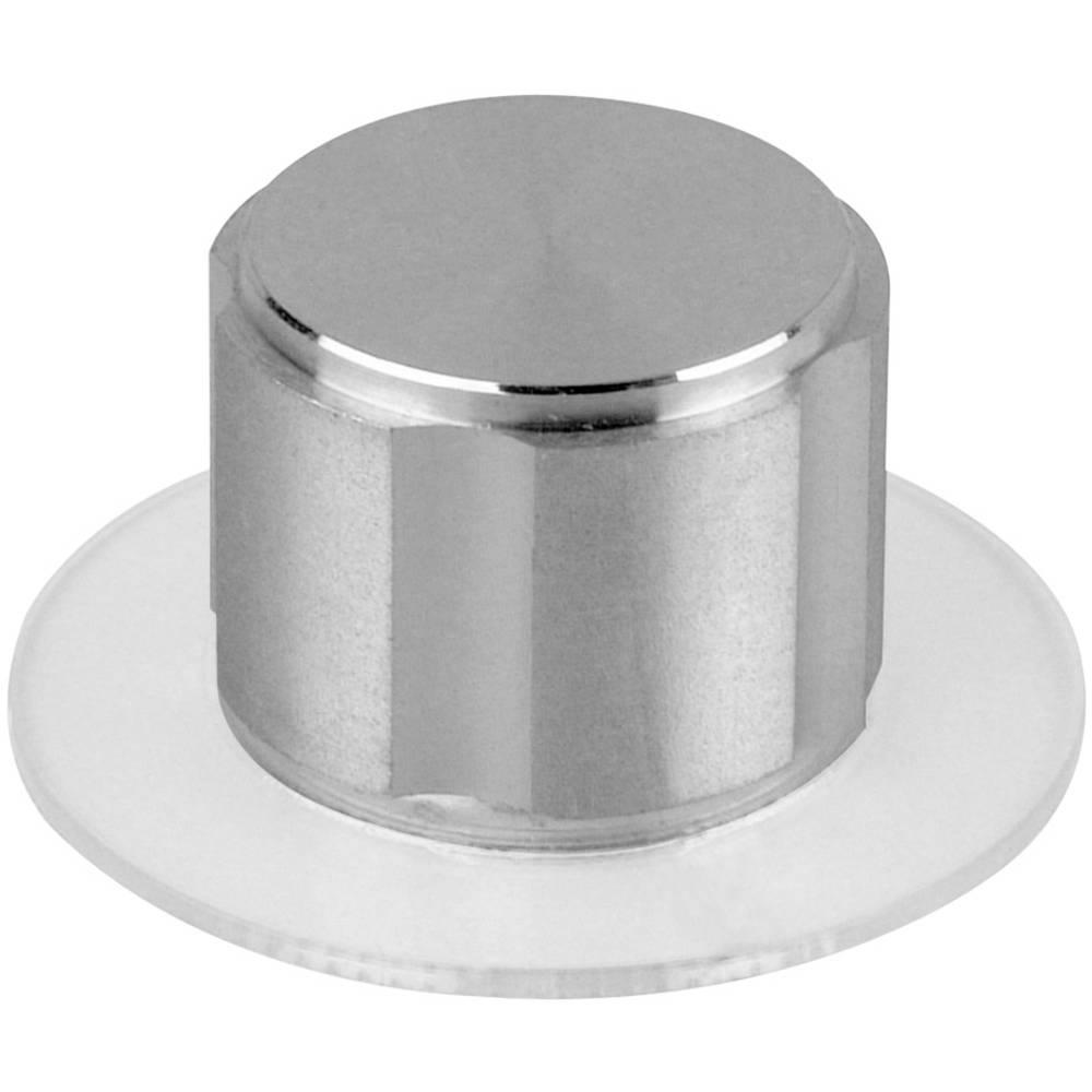 Mentor metalni gumb metalni gumb D20 s podložko s črto aluminij promjer osi 6mm 5572.6100