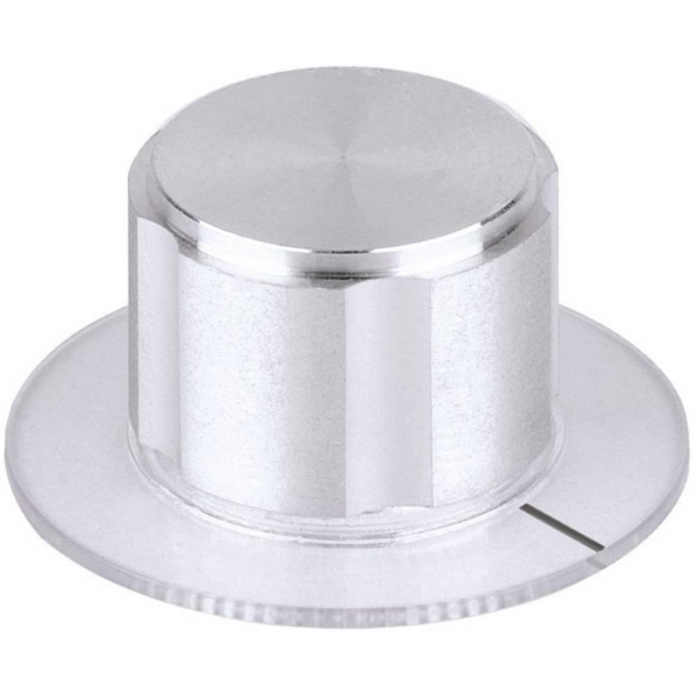 Mentor Metalni gumb aluminij promjer osi 6mm 5572.6110