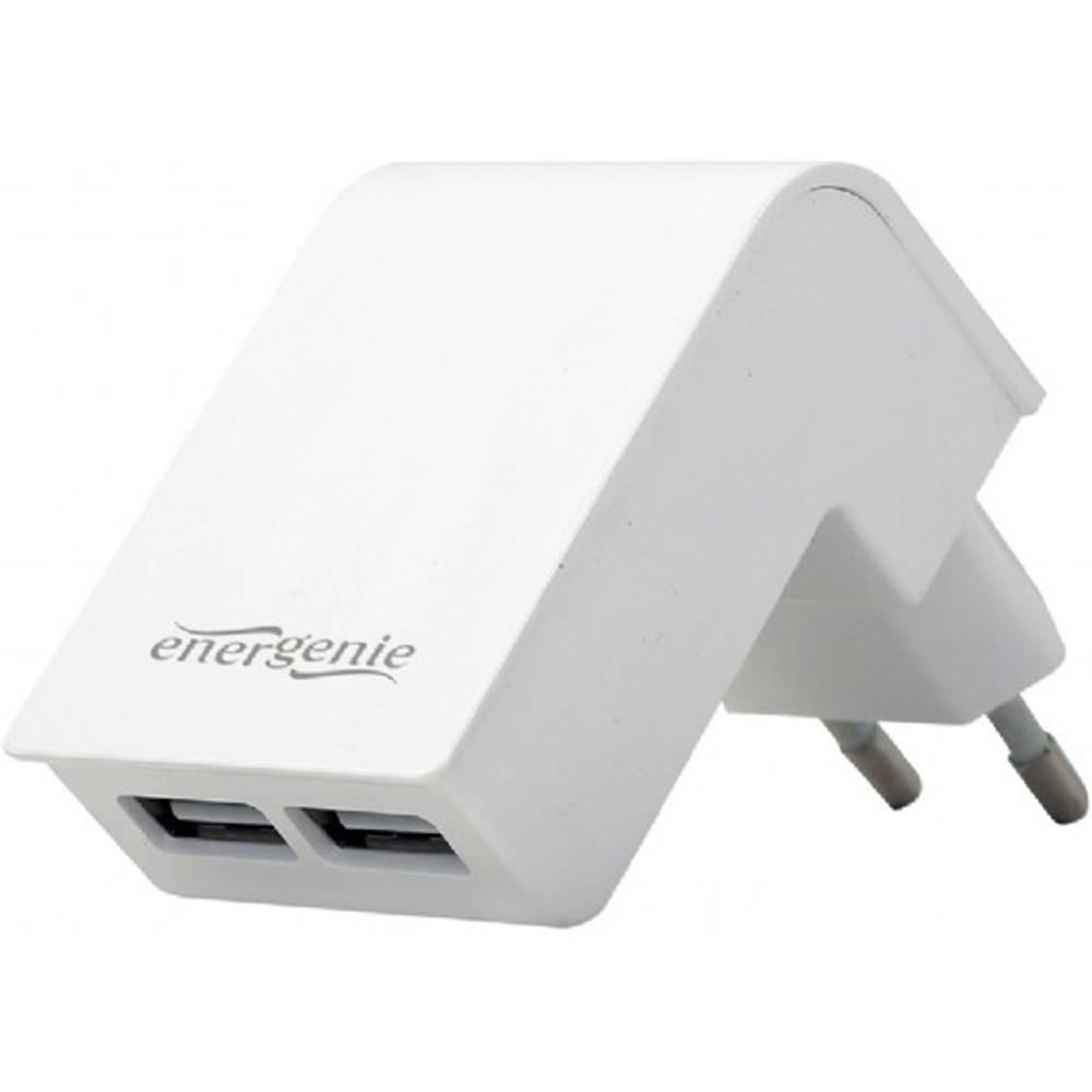 Energenie Uni- 2-fach EG-U2C2A-02-W USB napajalnik Vtičnica Izhodni tok maks. 2000 mA 2 x USB