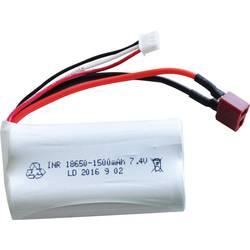 Amewi liion akumulatorski paket za modele 7.4 V 1500 mAh Število celic: 2 dirkalna baterija T-priključni sistem